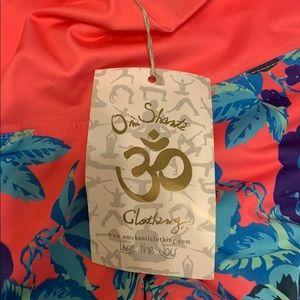 Onzie Pants - Neon floral Om Shanti workout leggings!